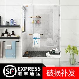 浴室镜子贴墙自粘免打孔洗手间挂墙玻璃壁挂卫生间厕所洗漱台化妆