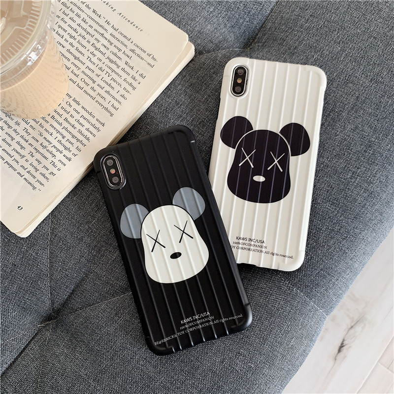 潮牌小熊oppor17 r15硅胶女手机壳五折促销