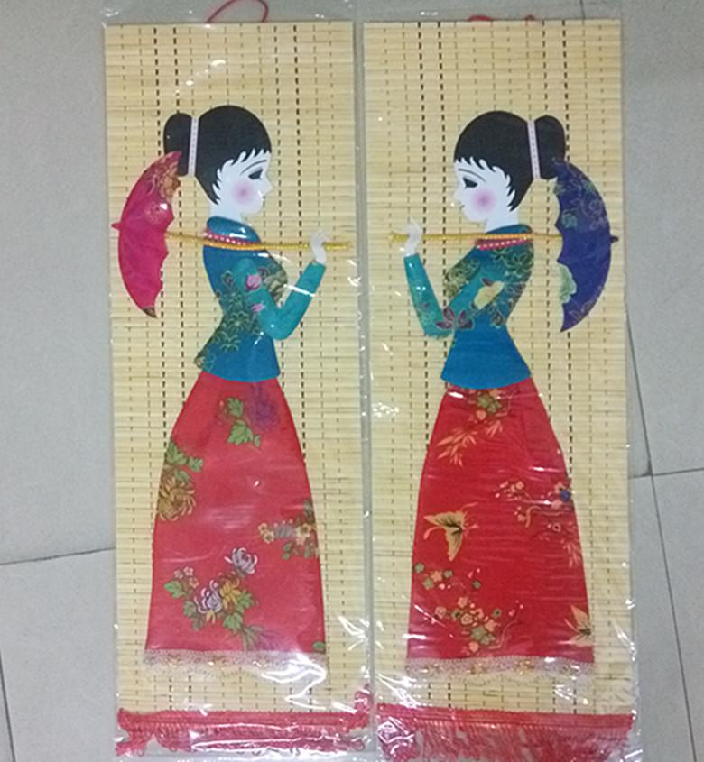 65 * 22см этнические меньшинства ремесла бамбук ткань наклейки висит живопись декоративная живопись бамбук картина красота картина