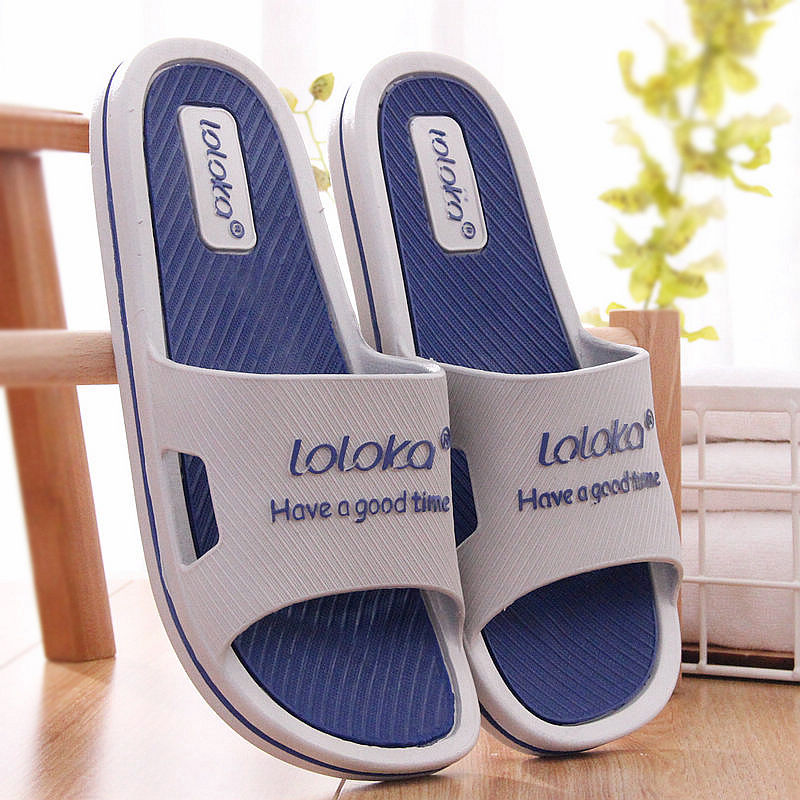 Lulujia slippers men's summer home indoor thick bottom antiskid sandals home men's bath slippers women's sandals