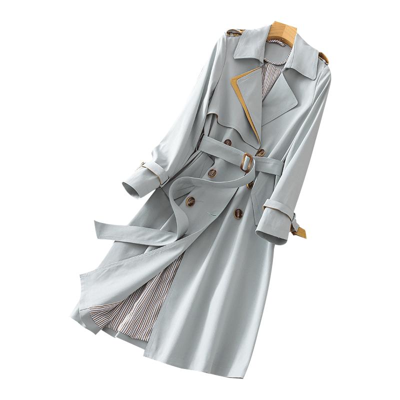 2021早春米白色自留女中长款风衣值得购买吗
