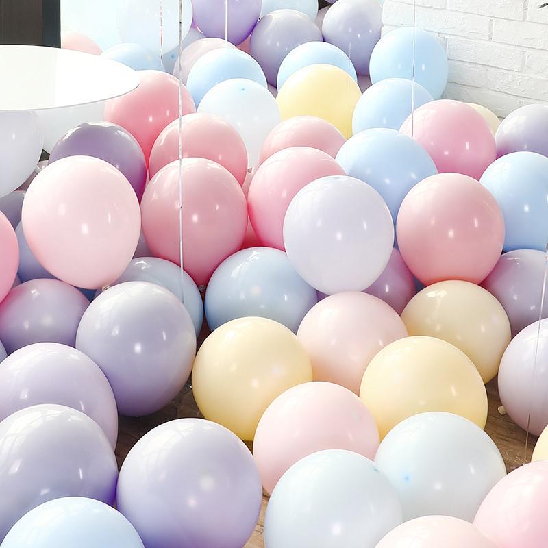 10月21日最新优惠网红马卡龙色创意婚礼结婚房间气球