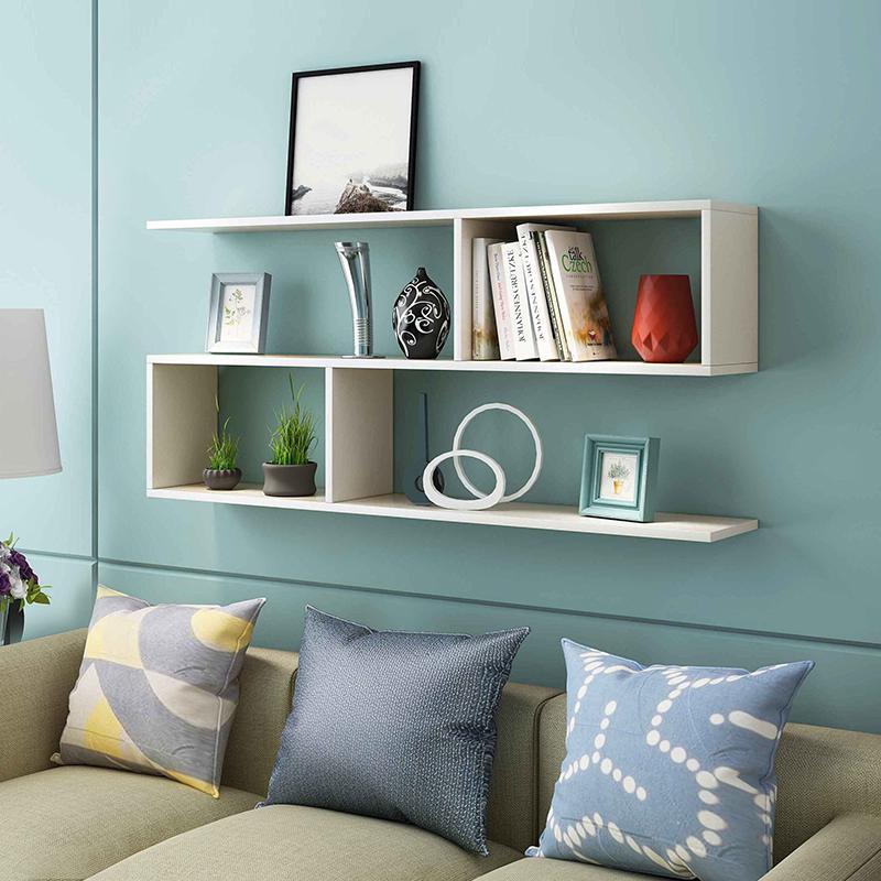 简约现代书架墙上置物架壁挂卧室挂墙壁柜书柜餐厅墙面酒架装饰架
