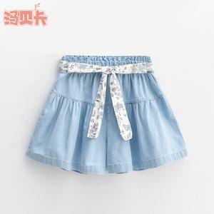 女童夏季牛仔短裤新款洋气童装中大童裙裤儿童薄款女宝热裤外穿