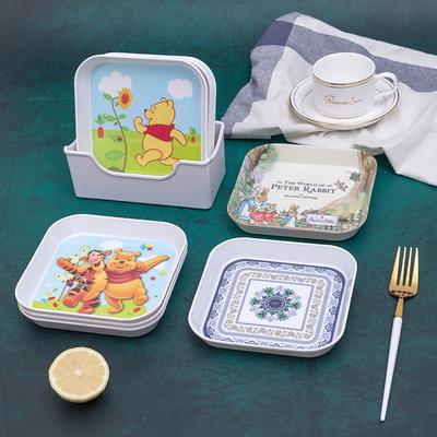 吐骨头渣盘放垃圾的盘碟餐盘碟子家用塑料欧式可爱创意小盘子骨碟