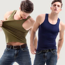 Men's tank top, close fitting, modal cotton, no trace sling, hurdle sports, underwear, bottoming shirt, men's autumn and winter