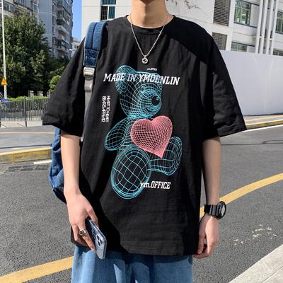 2021夏款男袖T恤卡通小熊   A325-T2103-P35