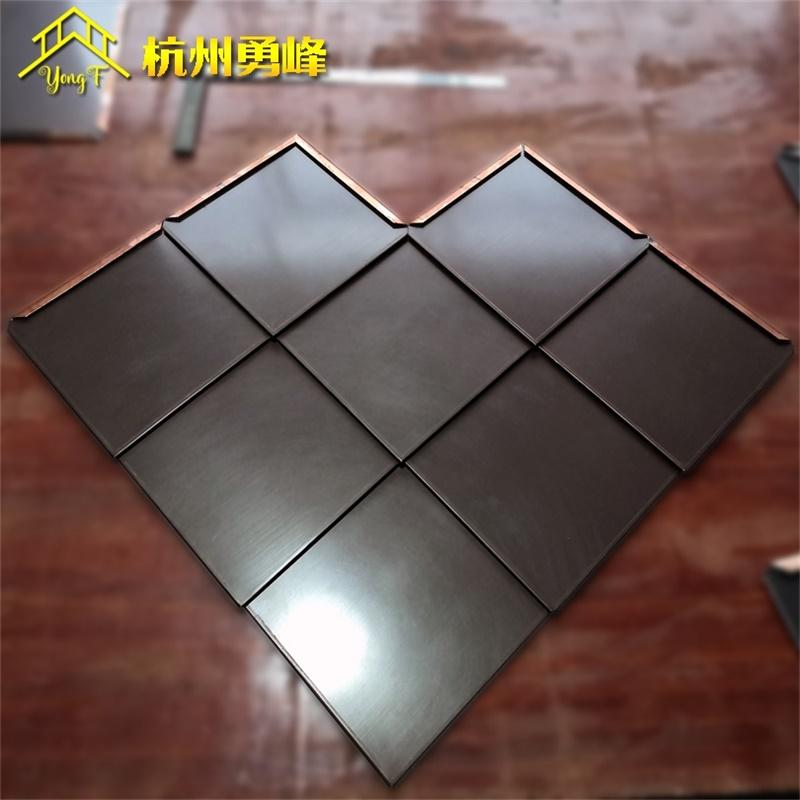 菱形平锁扣金属屋面系统 钛锌板合金压型墙面板 铝镁锰板装饰板