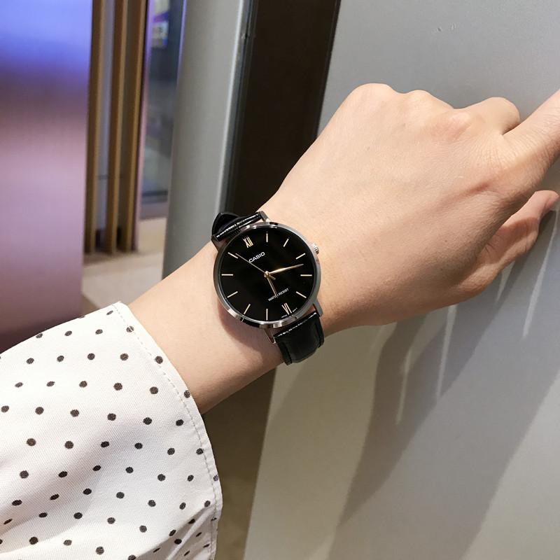 卡西欧手表女正品香港女士手表皮带防水日韩腕表简约气质时尚女表