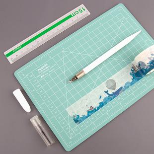 手帐用切割板刻刀和纸胶带剪割器美工刀笔刀手账裁纸垫板a5手帐割刀少女心小清新DIY手账本工具材料全套文具