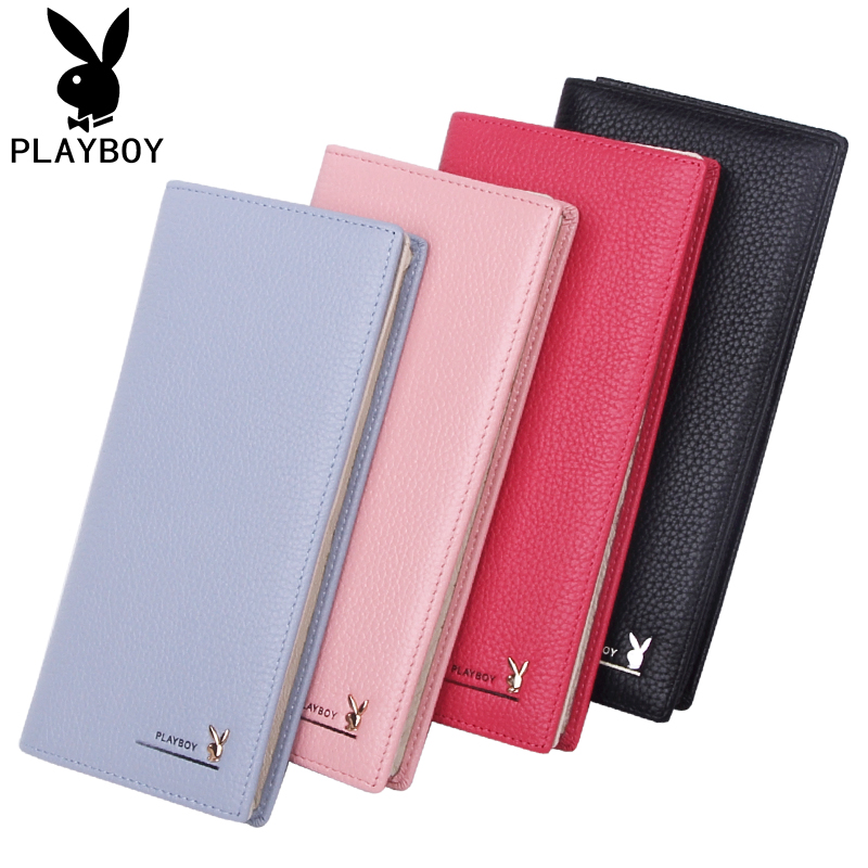 Genuine Playboy ladys wallet long leather head leather folding wallet simple fashion 2020 NEW