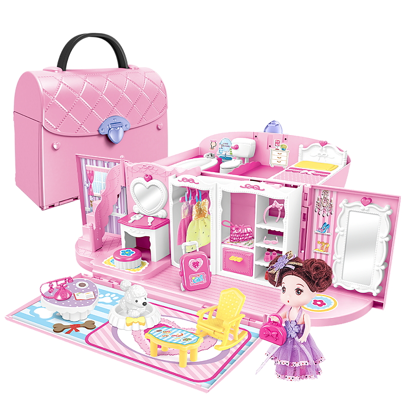Girl Toy Mengbao Barbie Suit Princess Dream House Single Doll Super Large Gift Box Dream Castle