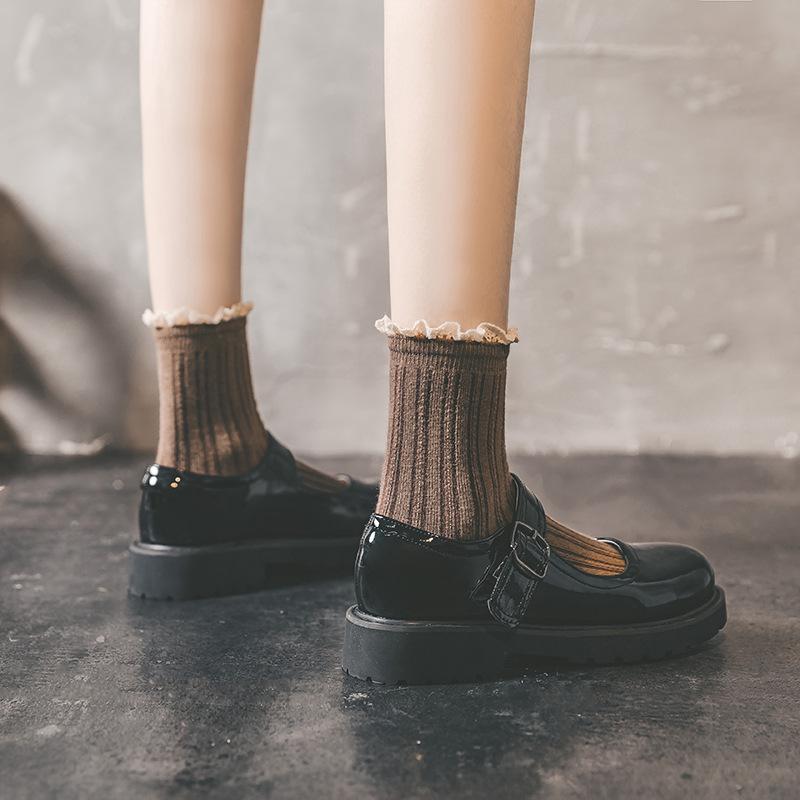 基础款jk制服厚底玛丽珍小皮鞋女复古日系学生lolita百搭夏季薄款