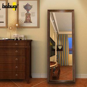 美式穿衣镜壁挂镜子更衣镜全身镜家用卧室挂墙复古大试衣镜落地镜
