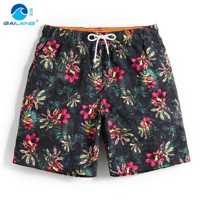 盖浪海边度假沙滩裤男裤子速干宽松游泳裤潮休闲短裤平角泳裤泰国