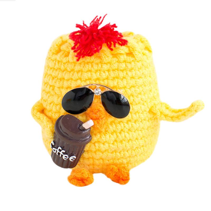 小鸡蛋袋材料包包钩针毛线端午节蛋袋兜袋diy手工编织毛线玩偶飝