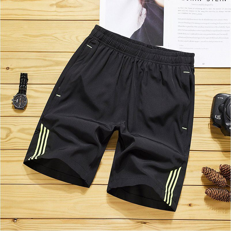Straight, loose and quick drying pants, Capris, sports and leisure underpants, summer ice silk shorts, mens 5 mens Breeches