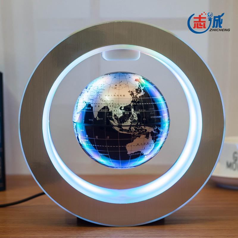 志诚发光自转磁悬浮地球仪办公室桌摆件创意科技礼品男女生日礼物