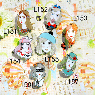 2013 latest badges Japanese harajuku harajuku Brooch NADIA / KATIE beauty flowery pretty girl