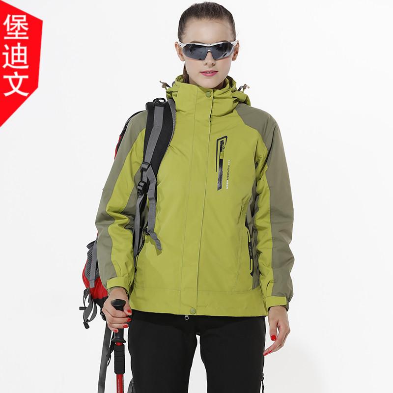 Осень-зима новая коллекция Открытый альпинизм для влюбленной пары мужские и женские Куртка три-в-одном жакет корейская версия для отдыха куртка