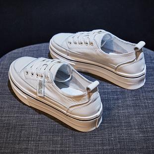 潮鞋 新款 百搭学生平底真皮休闲板鞋 2019爆款 厚底小白鞋 女2020春季