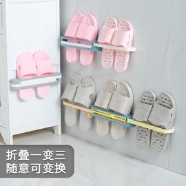 浴室拖鞋架壁挂免打孔卫生间收纳神器墙上门后省空间置物架放鞋子图片