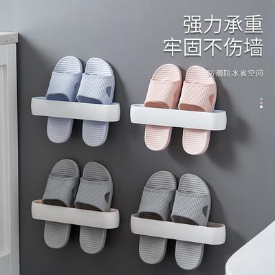 浴室拖鞋架墙壁挂式厕所门后免打孔鞋架沥水置物架卫生间收纳神器