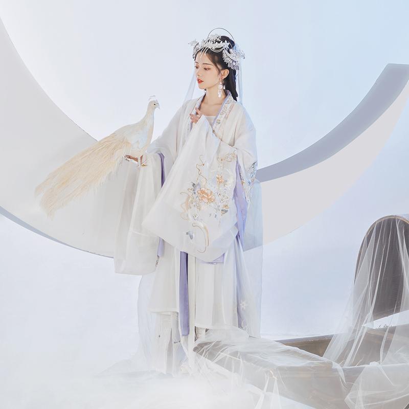 【流烟昔泠×川衣物语-雪姬】原创汉服男女CP对襟襦裙交领大袖衫