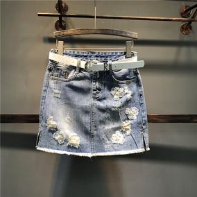 欧洲站春夏新款重工钉珠显瘦包臀裙