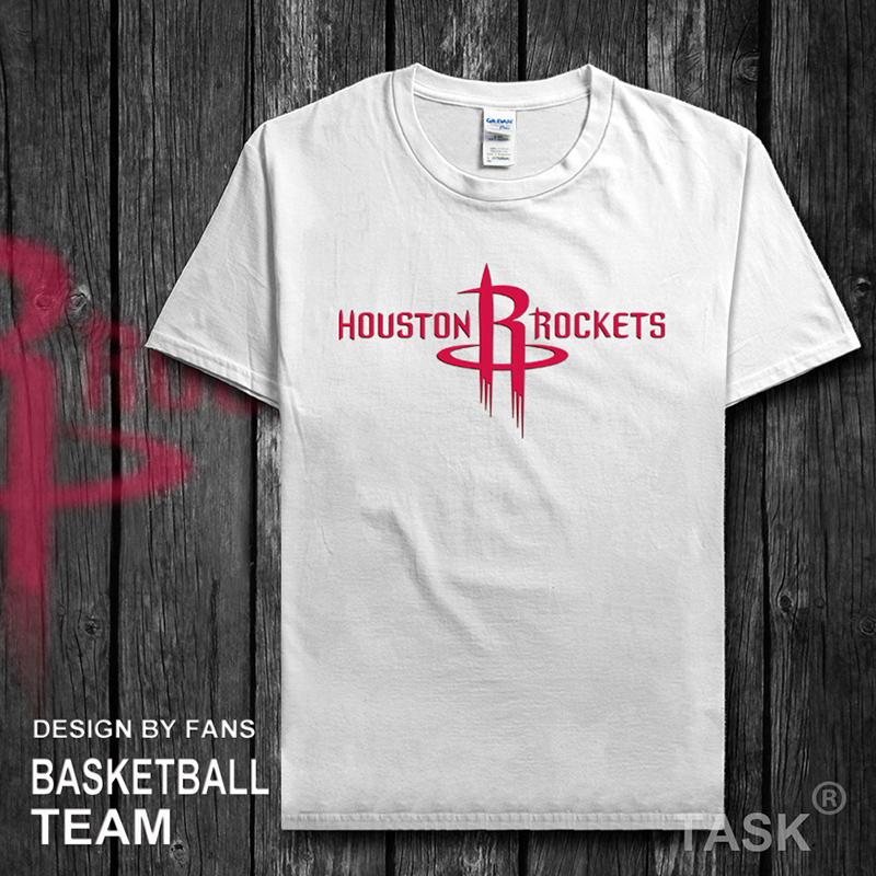 保羅哈登親子裝火箭隊純棉NBA球衣訓練服情侶T恤短袖運動籃球周琦