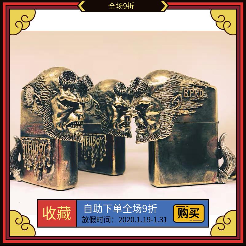 zippo打火机原装正品纯铜168盔甲地狱男爵3正版防风送礼物情人节