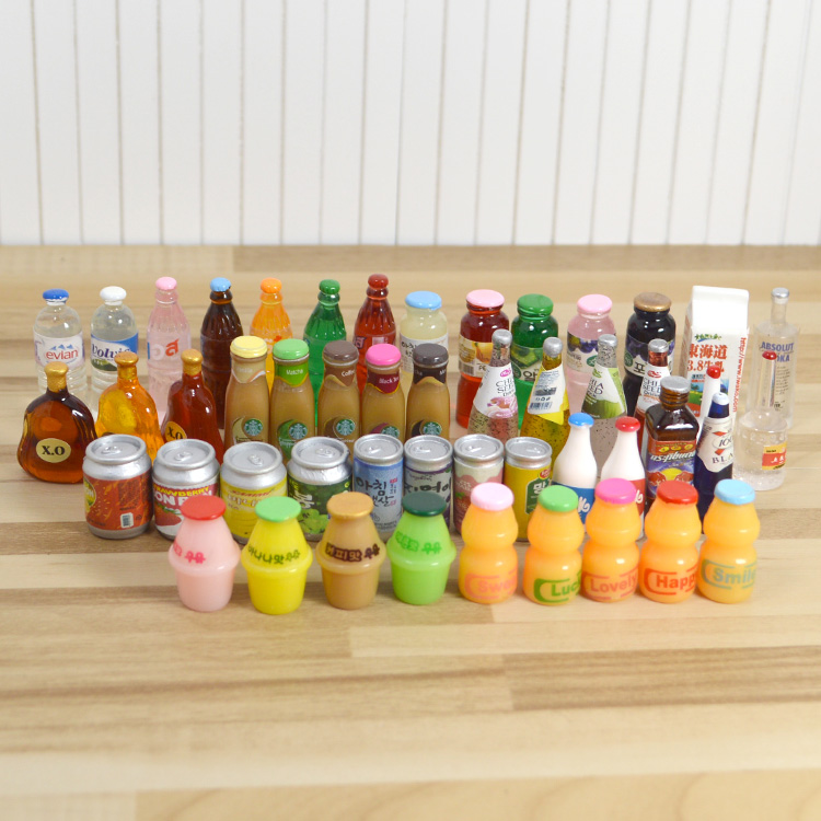 1: Scene simulation of 12 Baby House mini food and drink beverage market