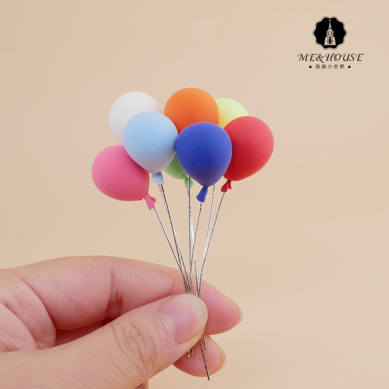 12 points 8 points BJD ob11 doll house mini model outdoor props miniature super balloon 8 groups