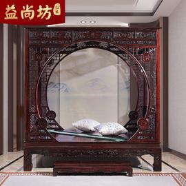 国标红木家具印尼黑酸枝架子床阔叶黄檀实木拔步床中式双人床大床图片