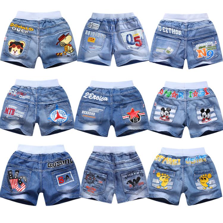 Boys denim shorts wear thin summer childrens cotton pants childrens clothes