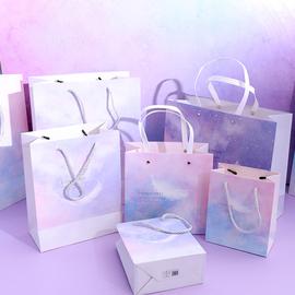 精美简约手提袋礼品袋ins风高档小号生日纸袋加厚礼物袋子包装袋