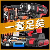 哈博日常家用电钻手动工具套装五金电工专用维修多功能工具箱木工