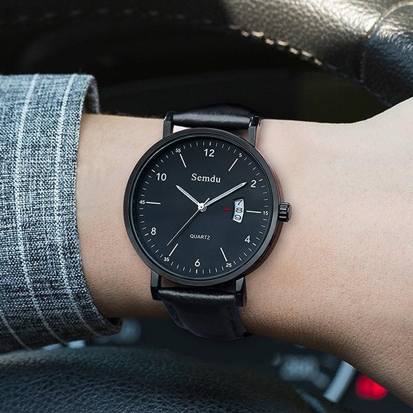 新款手表男士石英防水夜光男表概念韩版潮流学生德国小众钢带手表10-12新券