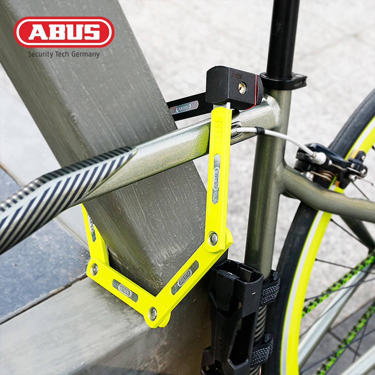 德国ABUS自行车锁原装山地公路电动车防盗锁摩托车便携固定折叠锁 Изображение 1