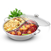 Huaxing Hao Thai hot pot mandarin duck pot cooker pot thick stainless steel pot soup pot home special pot boiler