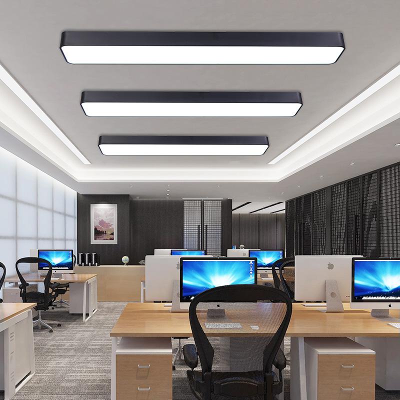 毅胜 LED办公室吸顶灯现代简约长方形阳台过道走廊会议室长条灯具