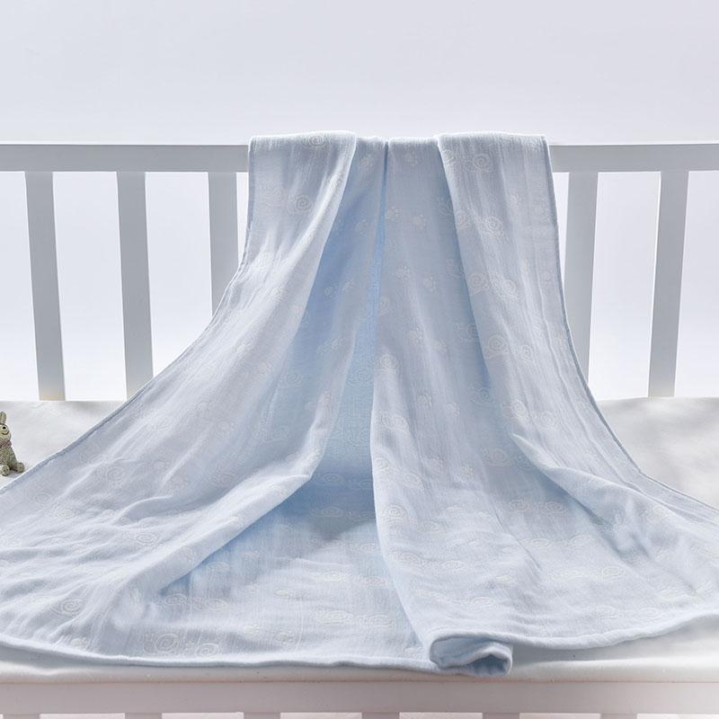 天鹭3层纯棉盖毯新生儿午睡毯宝宝薄毯子儿童超柔吸水毛巾被空调