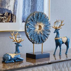 摆件家居饰品欧式客厅电视柜玄关酒柜装饰品简约创意北欧鹿工艺品