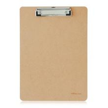 得力9226板夹文件夹板写字板A4木制垫板文具木质文件夹学生书写板夹A4环保木板夹