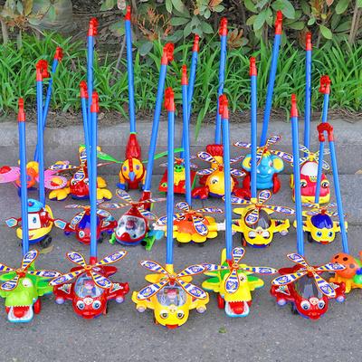 宝宝单杆学步手推车蝴蝶多功能助步车响铃小飞机学走路玩具推推乐