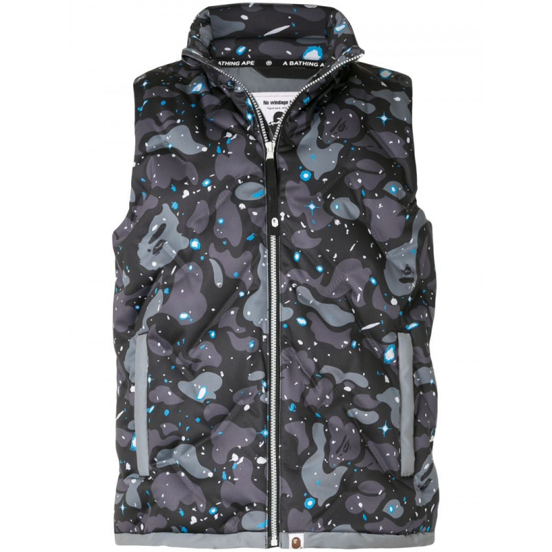 10% off tax on a bath ape? Mens camouflage printed vest