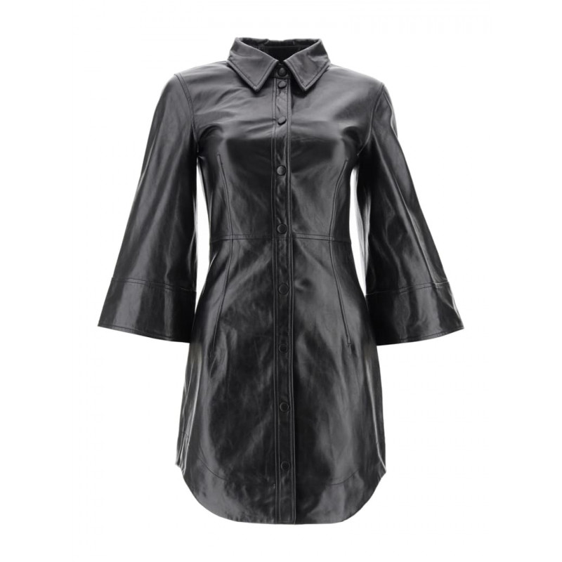 Purchase of Ganni Leather Mini Dress with tax package