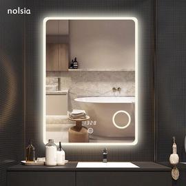 卫生间镜子洗漱台发光镜子led浴室镜带灯壁挂防雾化妆镜智能镜子图片