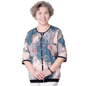 新款2021年洋气妈妈夏装短袖衬衫