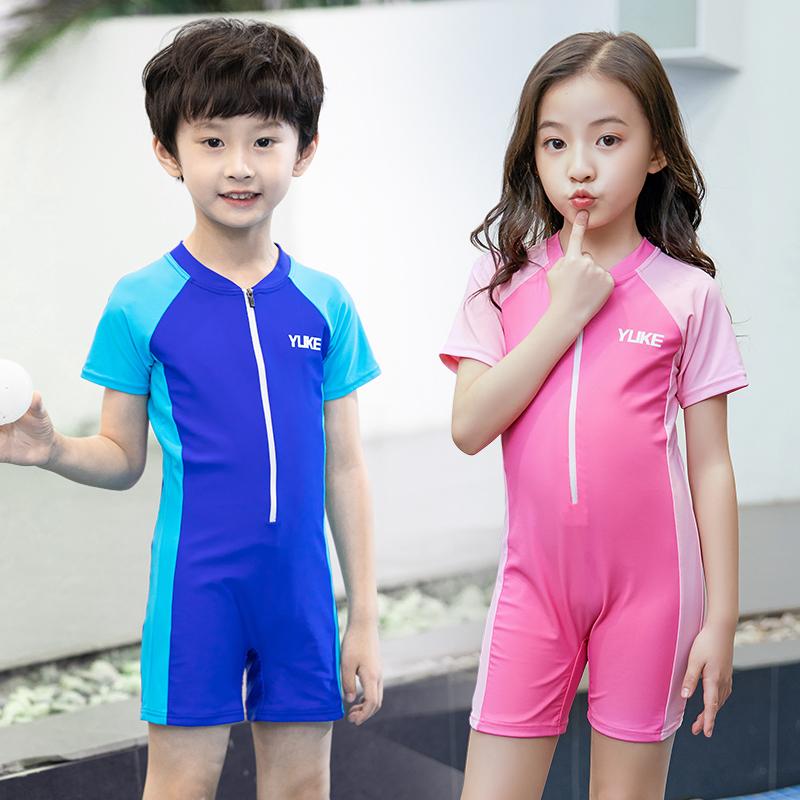 券后49.00元儿童男童中大童连体韩版防晒游泳衣